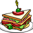 sandwich cartoon image, representing the sandwich technique structure