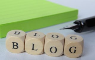 image representing the words blog