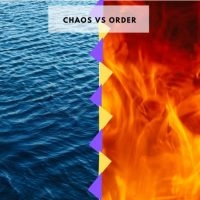 Describes the Order and the Chaos represented by fire and water.
