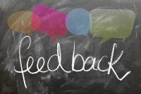 Aleks Vladimirov , blog on product development. The picture represents the word feedback.