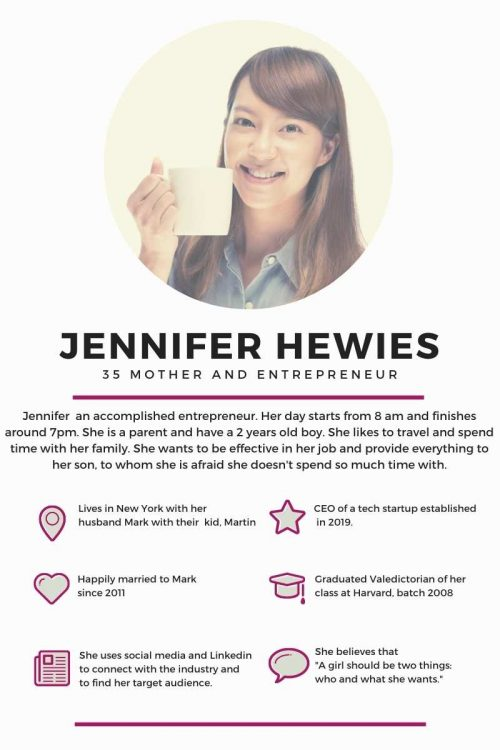 image of a user persona called Jennifer