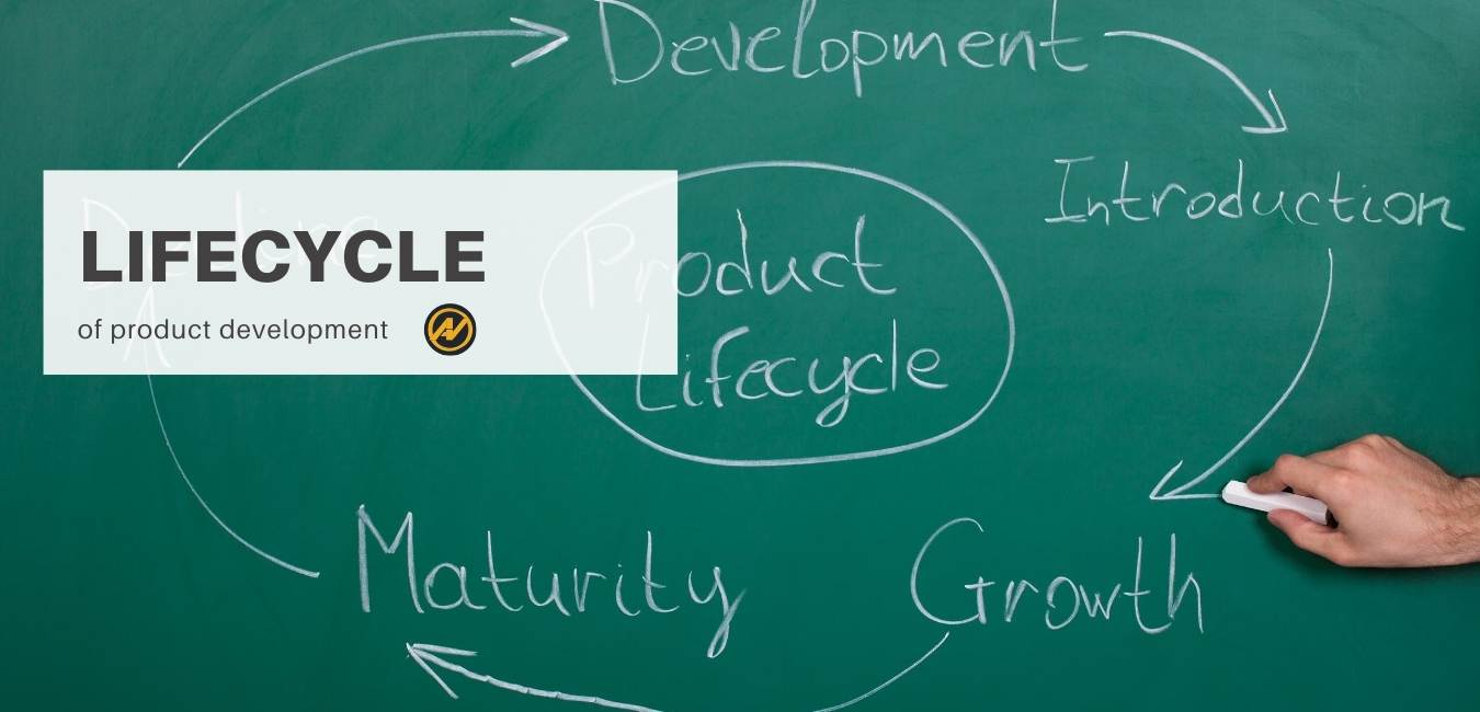 the picture represents a green board and inside there is the product lifecycle drawn which is the same in the article